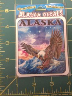 Alaska Decal Eagle - shadow is soaring - Beautiful colors - Ships worldwide!
