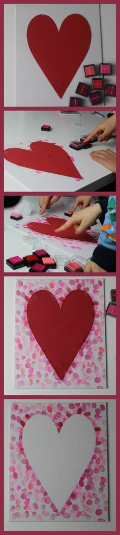 How to make a family fingerprint relief heart art canvas - Mum In The Madhouse- Mum In The Madhouse