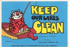 Tony the Tiger Keep Our Lakes Clean Sticker