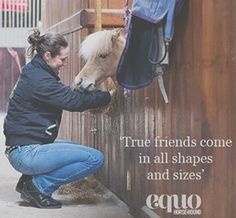 True friends come in all shapes and sizes. #WednesdayWisdom #Horse #Quote #friends