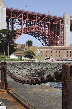 Fort Point, under the southern end of the Golden Gate Bridge, San Francisco, CA