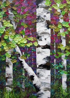 24 Ideas Abstract Birch Tree Painting Western Art For 2019 Birch Trees Painting, Birch Tree Art, Diy Painting, Tree Paintings, Canvas Paintings, Cuadros Diy, Willow Tree Figurines, Pine Tree Tattoo, Collage