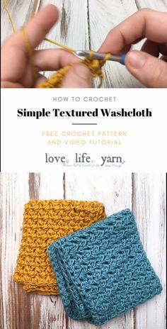 How to Crochet a Simple Textured WashclothThanks for this post.Use this close up video tutorial and this free crochet pattern to crochet some simple textured washcloths. This full video tutorial will walk you step by step through # Crochet Crochet Motifs, Free Crochet, Knit Crochet, Washcloth Crochet, Wash Cloth Crochet Pattern, Crochet Potholders, Crochet Dishcloths Free Patterns, Crochet Baby, Crochet Dish Towels