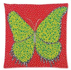 """Yayoi Kusama trabalho de arte borboleta 18 """"x 18"""" (45x45 cm) duplo Lados Com Zíper Fronhas início Durable Frete Grátis(China (Mainland))"""