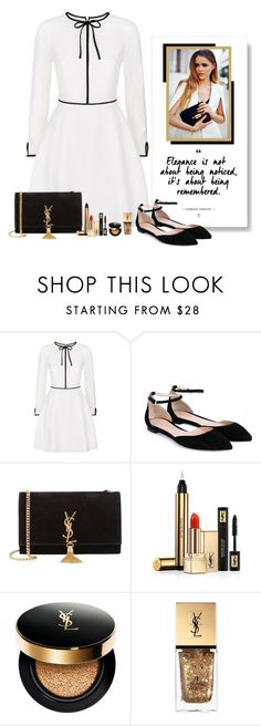 """no.205"" by nina-k-307 ❤ liked on Polyvore featuring Ted Baker, Gianvito Rossi and Yves Saint Laurent"
