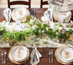 Pasture Bunny Dinner Plate, Set of 4 #potterybarn