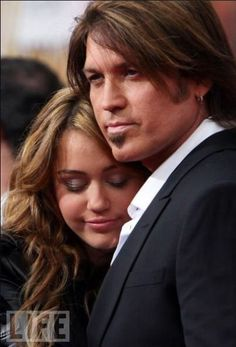 Singer Billy Ray Cyrus and singer daughter, Miley Cyrus.