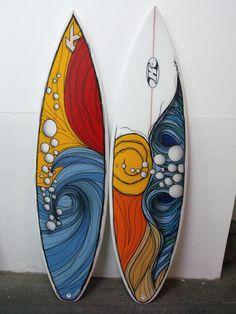 Resultado de imagen para simple wave art #surfboards