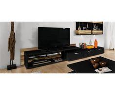 Meuble télé en bois - Meuble en bois - #meubletv Deco, Flat Screen, House Design, Home, Tv Consoles, Wood Furniture, Blood Plasma, Decoration, Flatscreen