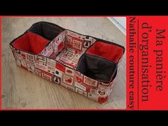 Fabric Storage Baskets, Easy Youtube, Couture Sewing, Sewing Box, Messenger Bag, Diy And Crafts, Sewing Projects, Patches, Purses
