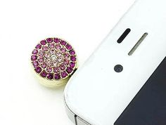 Pink & Red Crystal Charm Cell Phone / iPhone Charm - One Week Sale$4.95 by www.SassyToe.com