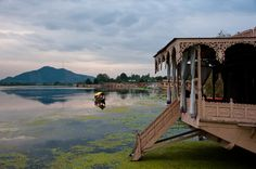 Srinagar Houseboats on Nageen Lake, Jammu & Kashmire, India