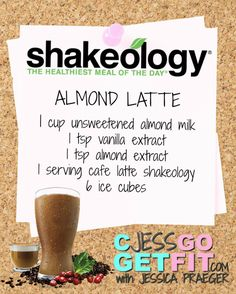 SHAKEOLOGY RECIPE ALMOND LATTE