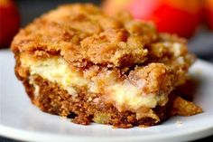 Cream Cheese Apple Coffee Cake - A moist apple coffee cake layered with luscious cream cheese and a crumbly streusel! Apple Recipes, Sweet Recipes, Baking Recipes, Cake Recipes, Dessert Recipes, Easy Desert Recipes, Just Desserts, Delicious Desserts, Yummy Food