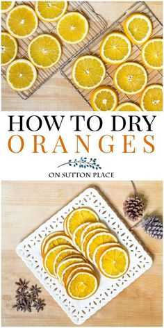 Learn how to make DIY dried oranges for simmering scent/potpourri, crafts & for beverage garnishes. No special equipment needed! How to dry orange slices. How To Make Potpourri, Homemade Potpourri, Simmering Potpourri, Potpourri Recipes, Stove Top Potpourri, Homemade Christmas Gifts, Homemade Gifts, Christmas Crafts, Christmas Stuff