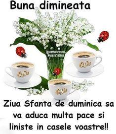 Good Morning, Sunday, Tableware, Decor, Embroidery, Buen Dia, Domingo, Dinnerware, Decoration
