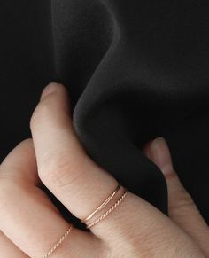 Meet the Twist Ring, our newest addition to the finger lineup. This 14k solid gold band measures just under 1mm in diameter and features a twisted design, inspired by the subtle textures found in everyday life (like your favorite worn-in tee).