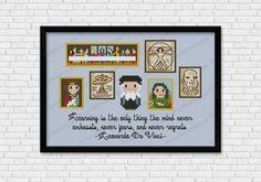 Leonardo da Vinci cross stitch pattern