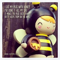 I eat my peas with honey... Momiji Doll, Queenie. #bee #doll #kawaii #peas www.lovemomiji.com