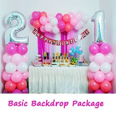 Pearly posh balloon wall diy package purchase your do it yourself pink affair balloon decoration do it yourself party wholesale centre solutioingenieria Choice Image
