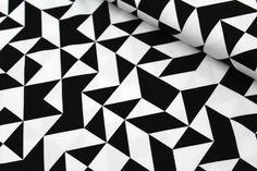 Jersey Mixed Triangles schwarz weiß Dreiecke