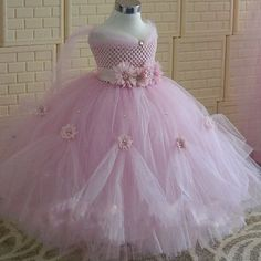 Beautiful Girls Pink Princess Dress Kids Crochet Tail Tutu Dress Ball Gown with Flower Headband Children Wedding Party Dresses We offers a wide selection of trendy style women's clothing. Affordable prices on new tops, dresses, outerwear and more. Princess Tutu Dresses, Pink Tutu Dress, Princess Dress Kids, Space Princess, Girl Tutu, Princess Belle, Dress Lace, Flower Girls, Flower Girl Dresses