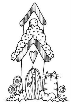 Colour It Etc BirdhousesEmbroidery