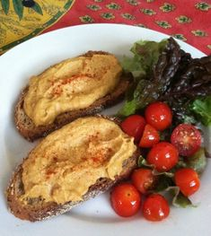 Vegan Welsh Rarebit - I'll be making something similar with some homemade non-dairy cheddar cheese.