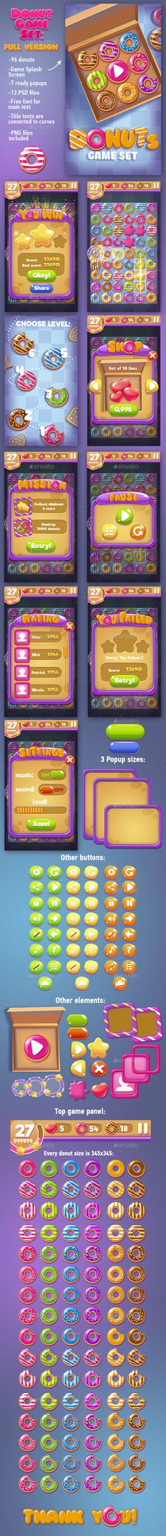 Big #Donuts #Game Set with #GUI
