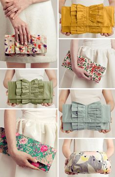 love the purses- the green one especially!