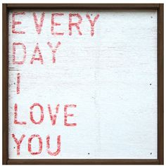 Featuring a sentiment that is both appropriate for romantic love, for children, for parents or friends.