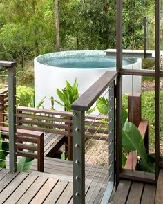 Concrete water tank plunge pool - yes please! Mini Pool, Dipping Pool, Natural Swimming Pools, Swimming Spa, Natural Pools, Stock Tank Pool, Small Pools, Plunge Pool, My Secret Garden