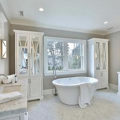 Spectacular Master Bathrooms With Freestanding Bathtub - Master bathroom with freestanding tub