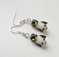 Pinguin-Perlen-Ohrhänger  von soschoen auf DaWanda.com
