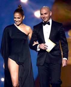 Highlights From the 2013 Grammys So Far! JLo and Pit Bull. Click for more hot pics from the show.