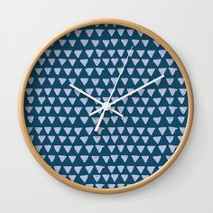 Hand Drawn Pattern Wall Clock by diana_ioana Wall Clock Hands, Wall Clocks, Wall Patterns, Hand Coloring, Natural Wood, Cool Designs, How To Draw Hands, Wall Decor, Artists