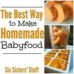 Making your own baby food is SO much cheaper than the jars and easy to do!