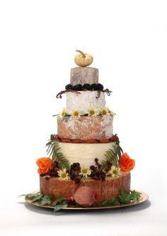 fall cheesecake wedding cake