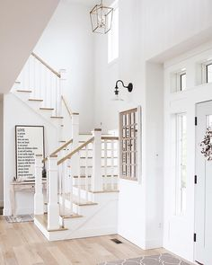 80 Modern Farmhouse Staircase Decor Ideas – Decorating Ideas - Home Decor Ideas and Tips - Page 2 Farmhouse Remodel, Farmhouse Style Kitchen, Modern Farmhouse Decor, Modern Farmhouse Kitchens, Coastal Farmhouse, Farmhouse Stairs, Coastal Cottage, Farmhouse Ideas, Modern Staircase