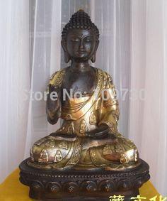 001499 Great solemn Excellent Tibetan Buddhist bronze SHAKYAMUNI buddha statue 38 cm #Affiliate