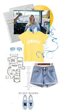 """""""have fun"""" by silver-sun ❤ liked on Polyvore featuring Joshua's, MANGO and Ray-Ban"""