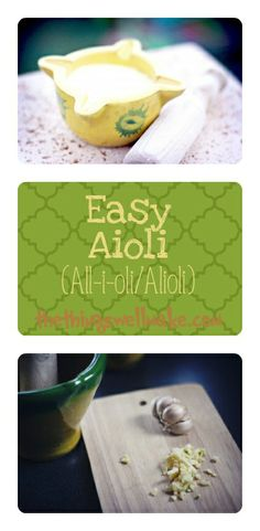 How to maka a quick and easy Aioli (alioli/allioli/ajoaceite). Also shown is how the traditional egg free (vegan) version is made, but that one is a bit more difficult.  ;)