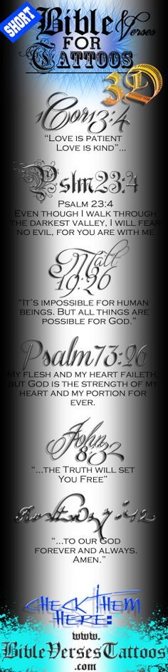I've always wanted a bible verse on my shoulder blade. I might even get a verse from the Quran.
