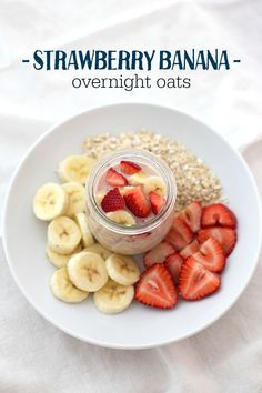 When it's too hot for warm oatmeal, why not try overnight oats? They're cool, fresh, and delicious! You'll love these strawberry banana oats (+ 6 other recipes to love!)