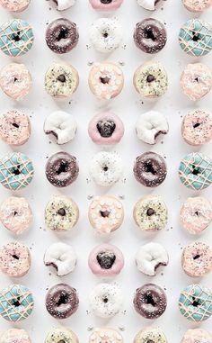 Icing sugar doughnuts:)