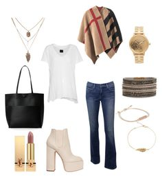 """""""Sin título #67"""" by esther-avayou on Polyvore featuring moda, RtA, Burberry, Laurence Dacade, Street Level, Vera Bradley, Nixon y Yves Saint Laurent"""