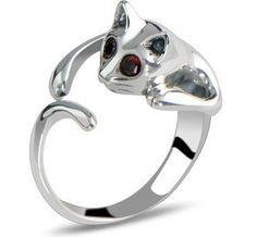 メルカリ商品: ファッション リング ネコ 耳 肉球 可愛い 猫グッズ 指輪  白目 #メルカリ
