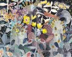 ミシェル・モーリンによる作品。精巧な水彩画を描いています。