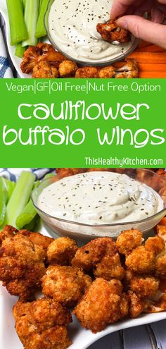 Cauliflower Buffalo Wings - This Healthy Kitchen Cauliflower buffalo wings are super flavourful with just the right amount of heat. These bite sized appetizers are perfect for game day and party platters! Bite Size Appetizers, Healthy Appetizers, Appetizer Recipes, Cauliflower Buffalo Wings Vegan, Aperitivos Vegan, Vegan Wings, Tea Sandwiches, Vegetarian Recipes, Healthy Recipes
