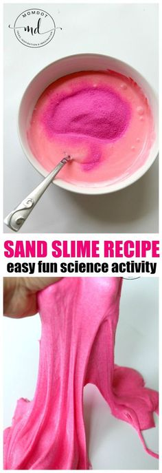 Unicorn Sand Slime – Unicorn Sand Slime Recipe : Make sand slime for a fun slime sensory experience The post Unicorn Sand Slime – appeared first on DIY Crafts. Sand Slime, Glitter Slime, Homemade Slime, Diy Slime, Beach Sand Crafts, Halloween Motto, Diy Play Doh, Play Dough, Party Favors